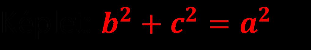 Pitagorasz tétel feladat megoldás képlet